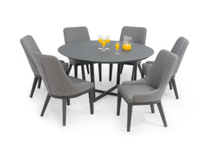 Pacific 6 Seat Round Weatherproof Dining Set by Maze Rattan