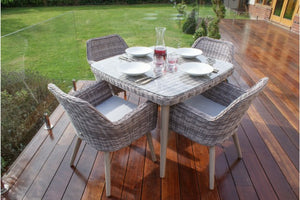 Paris 4 Seat Dining Set by Maze Rattan - Gardenbox