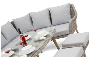 Paris Large Corner Dining Sofa Set by Maze Rattan - Gardenbox