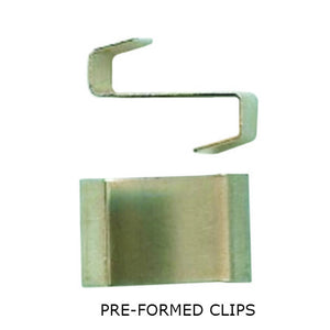 Genuine Elite Greenhouse Glazing Clips - Wire Clips, Spring Clips, Pre-Formed Overlap Clips, Overlap Clips - Choice of Pack Sizes - Gardenbox