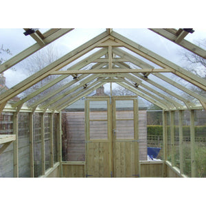 Inside the Swallow Raven 8ft Wide Wooden Greenhouse