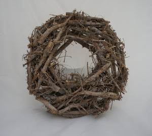 Shabby Chic Rustic Root Twig Decorative Wreath - Gardenbox