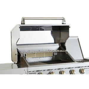 Outback Signature 4 Burner Gas BBQ with Stainless Steel lid