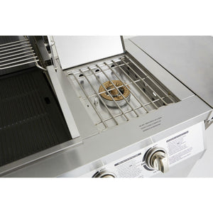 Powerful Side Burner on the Outback Signature 6 Burner Gas BBQ