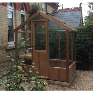 Kingfisher Wooden Greenhouse with Single Door 6x4