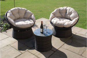 Swivel Lounge Set by Maze Rattan - Gardenbox