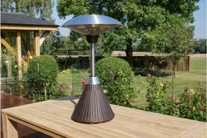 Maze Rattan Table Top Heater | Choice of Colours - Gardenbox