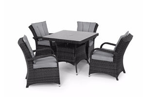 Texas 4 Seat Square Dining Set by Maze Rattan - Gardenbox