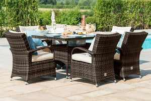 Texas 6 Seat Rectangular Dining Set with Ice Bucket by Maze Rattan - Gardenbox