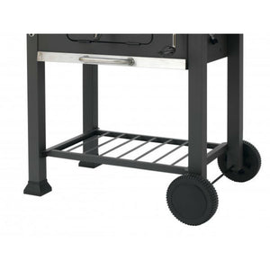 Tepro Toronto Click Charcoal BBQ Trolley for easy movement