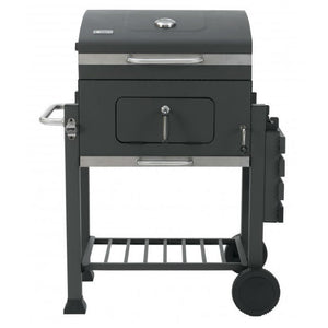 Tepro Toronto Click Charcoal BBQ with foldable shelf