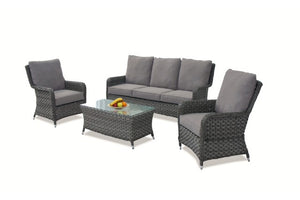 Victoria High Back 3 Seat Sofa Set by Maze Rattan - Gardenbox