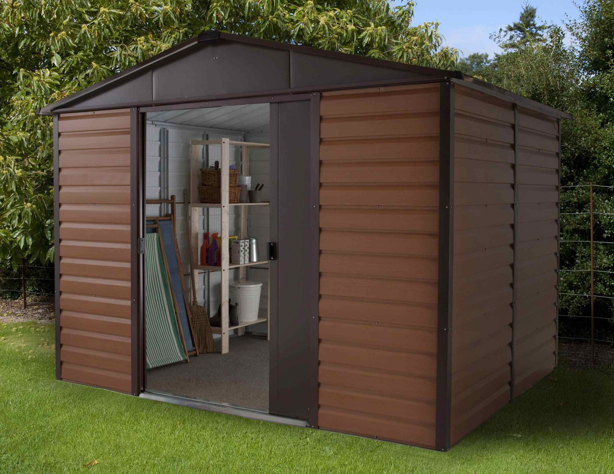 10ft By 8ft Metal Garden Shed 108wgl By Yardmaster Gardenbox