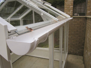 Swallow Kingfisher Greenhouse Rainwater Kit 6x18 - White - Gardenbox
