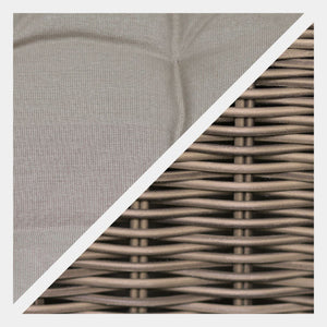 Wicker style Exeter Rattan Weave with beige cushions