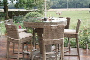 Winchester 6 Seat Round Bar Set with Ice Bucket by Maze Rattan - Gardenbox