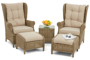 Winchester High Back Lounge Set by Maze Rattan - Gardenbox