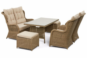 High backed dining sofa set from Gardenbox