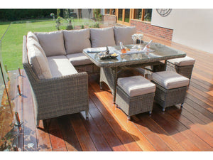 3 footstools included in the Exeter Corner Dining sofa set