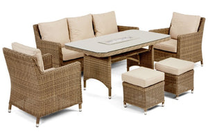 Winchester Venice Sofa Dining Set with Ice Bucket by Maze Rattan - Gardenbox