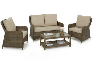 Gardenbox Exeter Square High Back Sofa Set