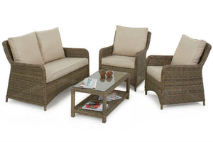 Ideal indoors or outdoors, the Gardenbox Exeter Square High Back Sofa set will look great