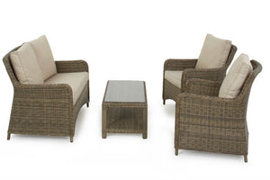Comfort and style from the Exeter Square High Back Sofa set by Gardenbox