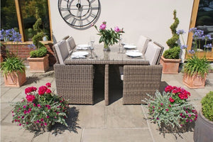 Space saving outdoor rattan dining furniture from Gardenbox