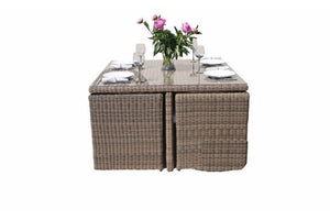 Outdoor cube rattan dining set for 8 people from Gardenbox
