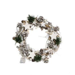 Decorative Twig Wreath with LED Lights - Choice of Sizes - Gardenbox