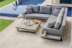 Zen Corner Sofa and Chair Weatherproof Outdoor Furniture Set by Maze Rattan - Gardenbox