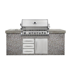 Napoleon Prestige Pro 665 Built In Outdoor Kitchen Natural Gas Barbecue