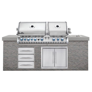 Napoleon Prestige Pro 825 Built In Outdoor Kitchen Gas Barbecue