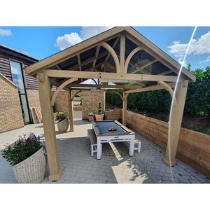 Bespoke Hand Built Wooden Outdoor Gazebo