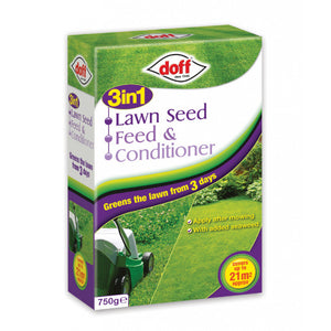 Doff 3 in 1 Lawn Seed Feed & Conditioner 21m2 - Gardenbox
