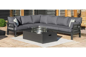 Oslo Corner Sofa with Fire Pit Table by Maze Rattan