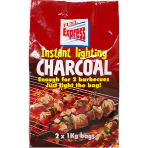 Instant Light Lumpwood Charcoal | 2kg Bag - Gardenbox