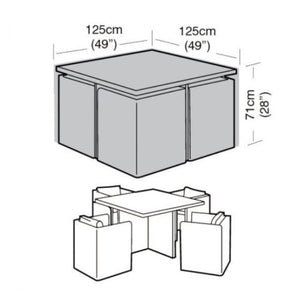 4 Seater Waterproof Patio Cube Style Furniture Cover - Various Sizes - Gardenbox