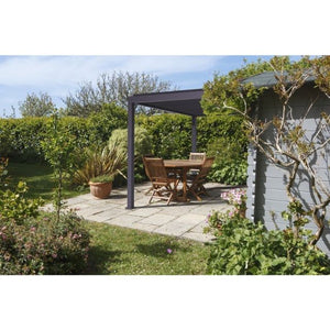 Wall Mounted Targa Vented Outdoor Gazebo 3m by 3.6m