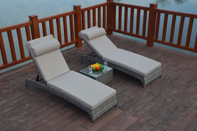 two grey rattan garden sun loungers carrera range. Black Bedroom Furniture Sets. Home Design Ideas