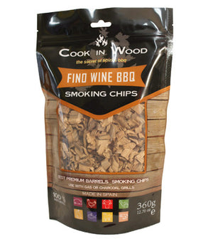 BBQ Charcoal Flavoured Smoker Chips - Choice of Fantastic Flavours all the way from Spain - Gardenbox