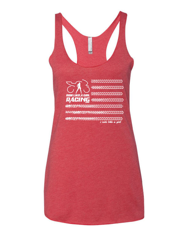 American Flag Tank Top (vintage red)