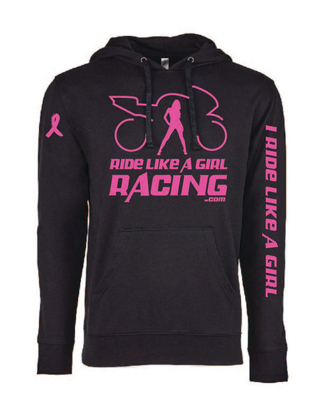 LIMITED EDITION PINK RIBBON LOGO HOODIE (black)