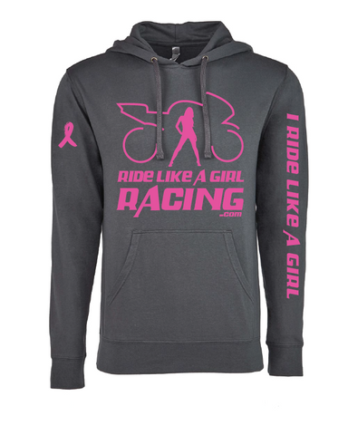 LIMITED EDITION PINK RIBBON HOODIE (grey)