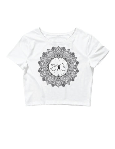 Mandala Crop (white)