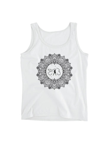 Mandala Tank Top (white)