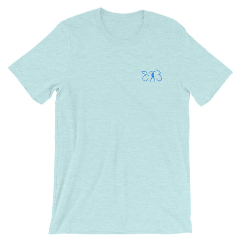 Embroidered T-shirt (prism ice blue)