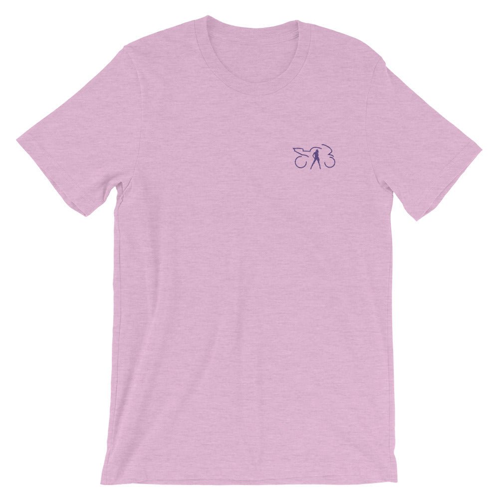Embroidered T-shirt (prism lilac)