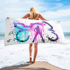 Watercolor Beach Towel