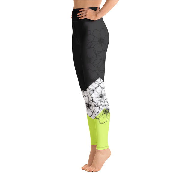 Yoga Flower Leggings (neon)